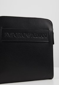 Emporio Armani - FLAT MESSENGER BAG - Across body bag - black - 7