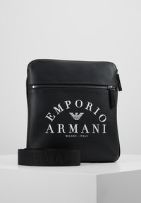 Emporio Armani - FLAT MESSENGER BAG - Across body bag - black - 0