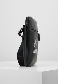 Emporio Armani - FLAT MESSENGER BAG - Across body bag - black - 3