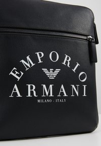 Emporio Armani - FLAT MESSENGER BAG - Across body bag - black - 6