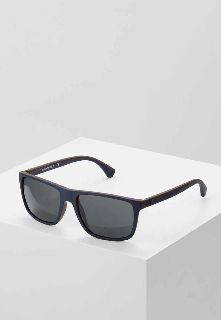Emporio Armani - Sonnenbrille - top blue/brown rubber