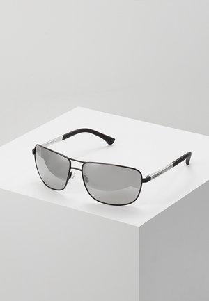 Sunglasses - matte black/grey mirror silver