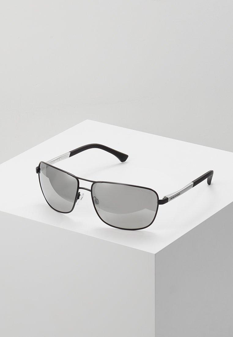 Emporio Armani - Aurinkolasit - matte black/grey mirror silver