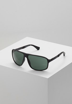 Sunglasses - matte black/green