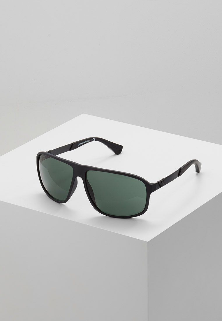Emporio Armani - Sunglasses - matte black/green