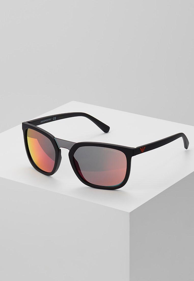 Emporio Armani - Zonnebril - matte black/grey mirror red/yellow
