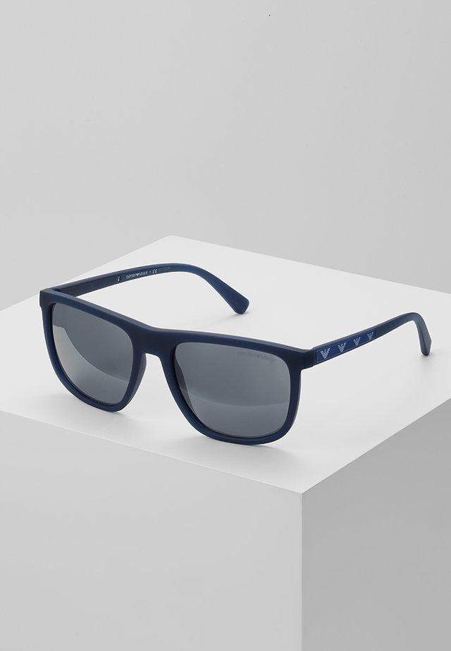 Solbriller - matte opal blue/light grey mirror black