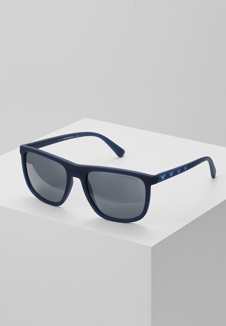 Emporio Armani - Solbriller - matte opal blue/light grey mirror black