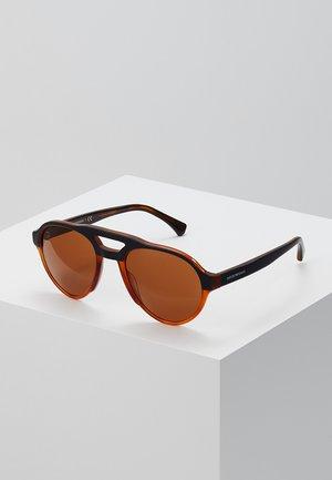 Sunglasses - top matte black on yellow tort