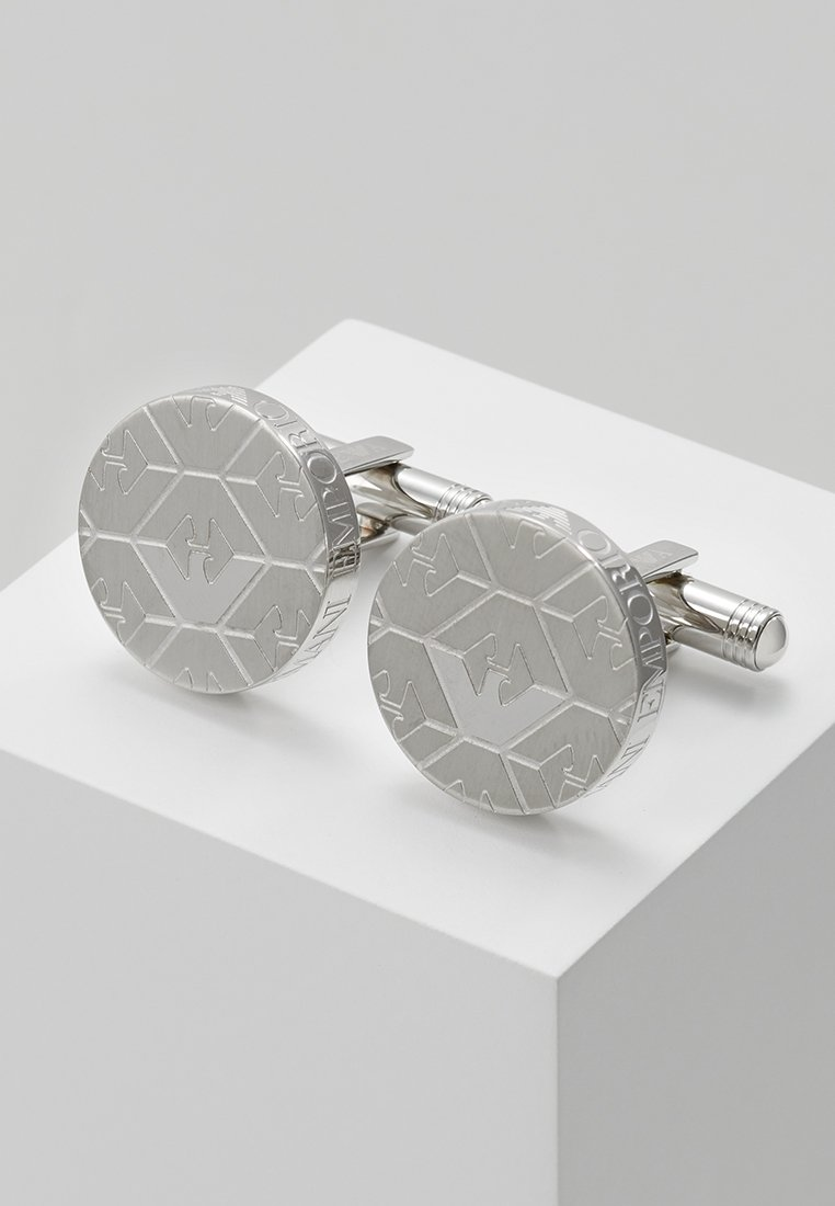 Emporio Armani - Boutons de manchette - silver-coloured