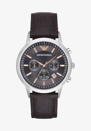 Chronograph watch - dunkelbraun