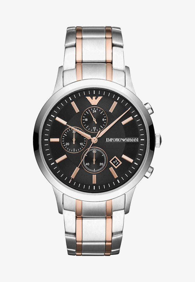 Chronograph watch - roségold-colured/silver-coloured