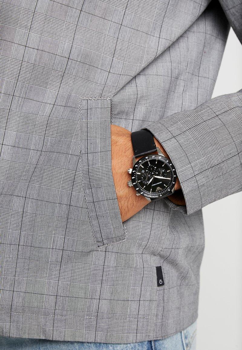 Emporio Armani - Zegarek chronograficzny - black