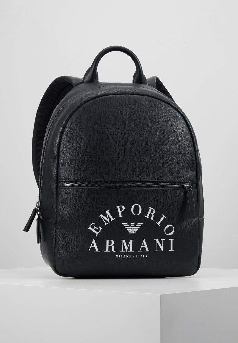 Emporio Armani - ZAINO PRINTED BACKPACK - Zaino - black