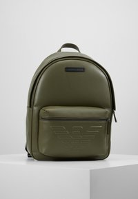 Emporio Armani - ZAINO GRANATA BACKPACK - Rygsække - military/black - 0