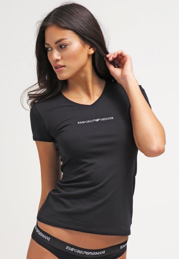 Emporio Armani - ESSENTIAL - Nachtwäsche Shirt - nero