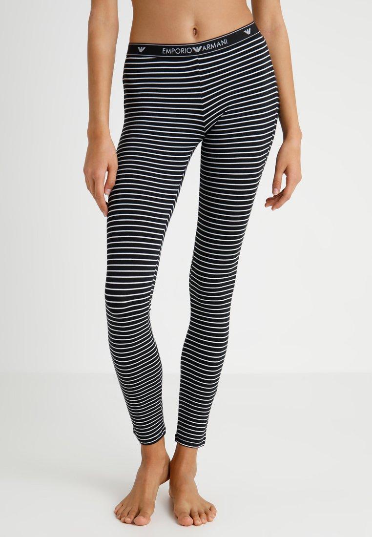 Emporio Armani - ST. TROP - Pyjama bottoms - nero/bianco