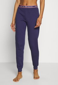 Emporio Armani - PANTS WITH CUFFSVISIBILITY ICONIC - Pyjamabroek - indigo blue - 0