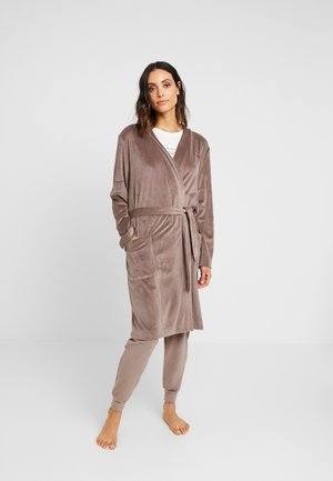 SHINY DRESSING GOWN - Albornoz - tortora/dove grey