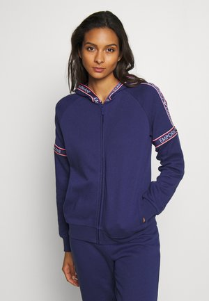 FULL ZIP JACKET AND HOODVISIBILITY ICONIC TERRY - Pyjamashirt - indigo blue