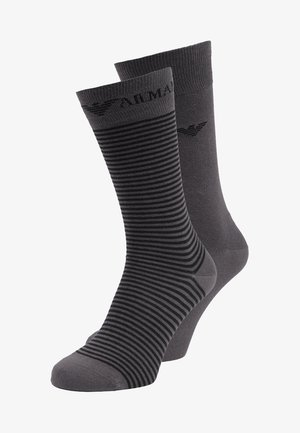 SHORT 2 PACK - Chaussettes - anthracite gray