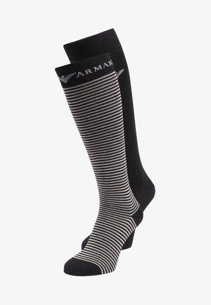 LONG 2 PACK - Calcetines hasta la rodilla - black