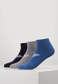 Emporio Armani - IN SHOE SOCKS 3 PACK - Skarpety - bluebluette/grigio - 0