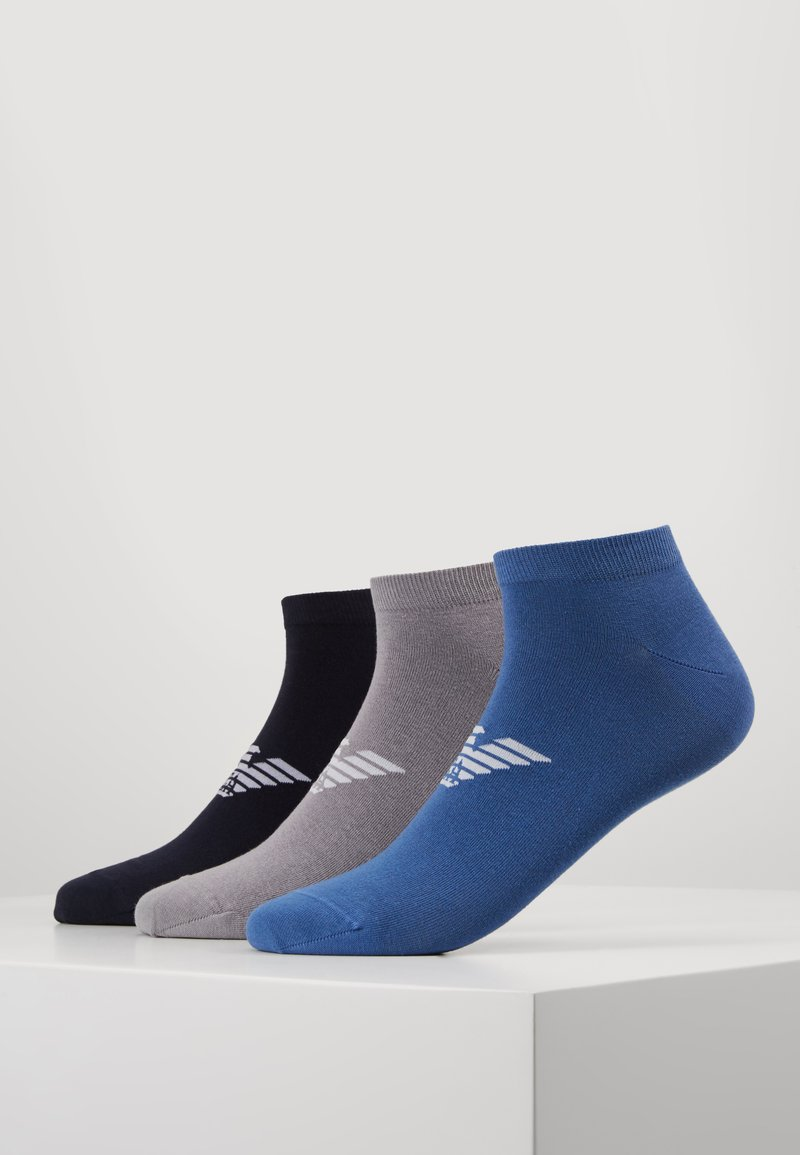 Emporio Armani - IN SHOE SOCKS 3 PACK - Skarpety - bluebluette/grigio