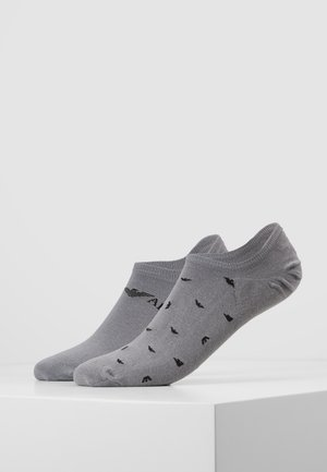 INVISIBLE SOCKS 2 PACK - Trainer socks - grigio grey