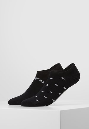 INVISIBLE SOCKS 2 PACK - Trainer socks - black