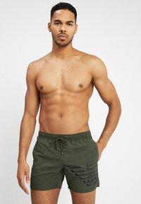 Emporio Armani - BOXER BEACHWEAR - Swimming shorts - military green - 0