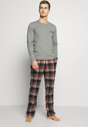 SET - Pyjamas - black/grey/red