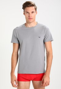 Emporio Armani - CREW NECK 2 PACK - Hemd - gray/navy blue - 0