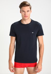 Emporio Armani - CREW NECK 2 PACK - Hemd - gray/navy blue - 3