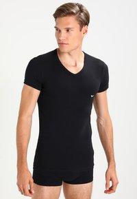 Emporio Armani - V NECK 2 PACK - Basic T-shirt - black/gray - 3