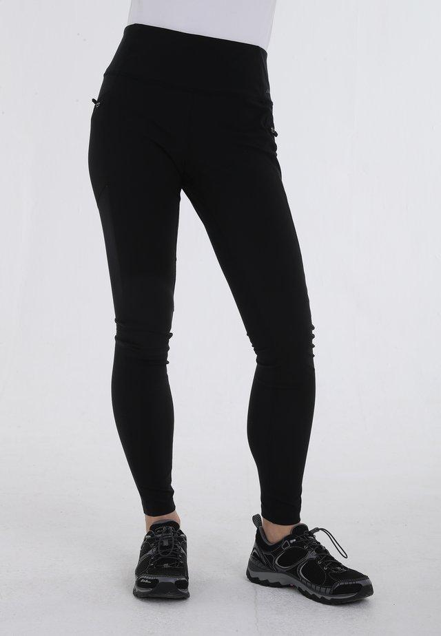 TRAIL MIX HYBRID - Leggings - black
