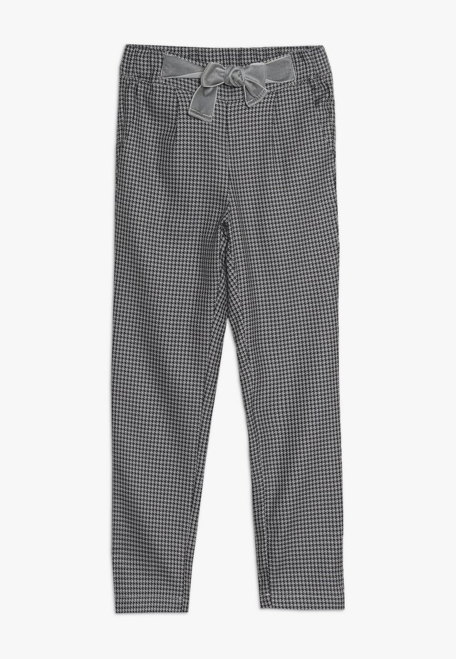 VAMILLA TROUSERS - Stoffhose - black/white