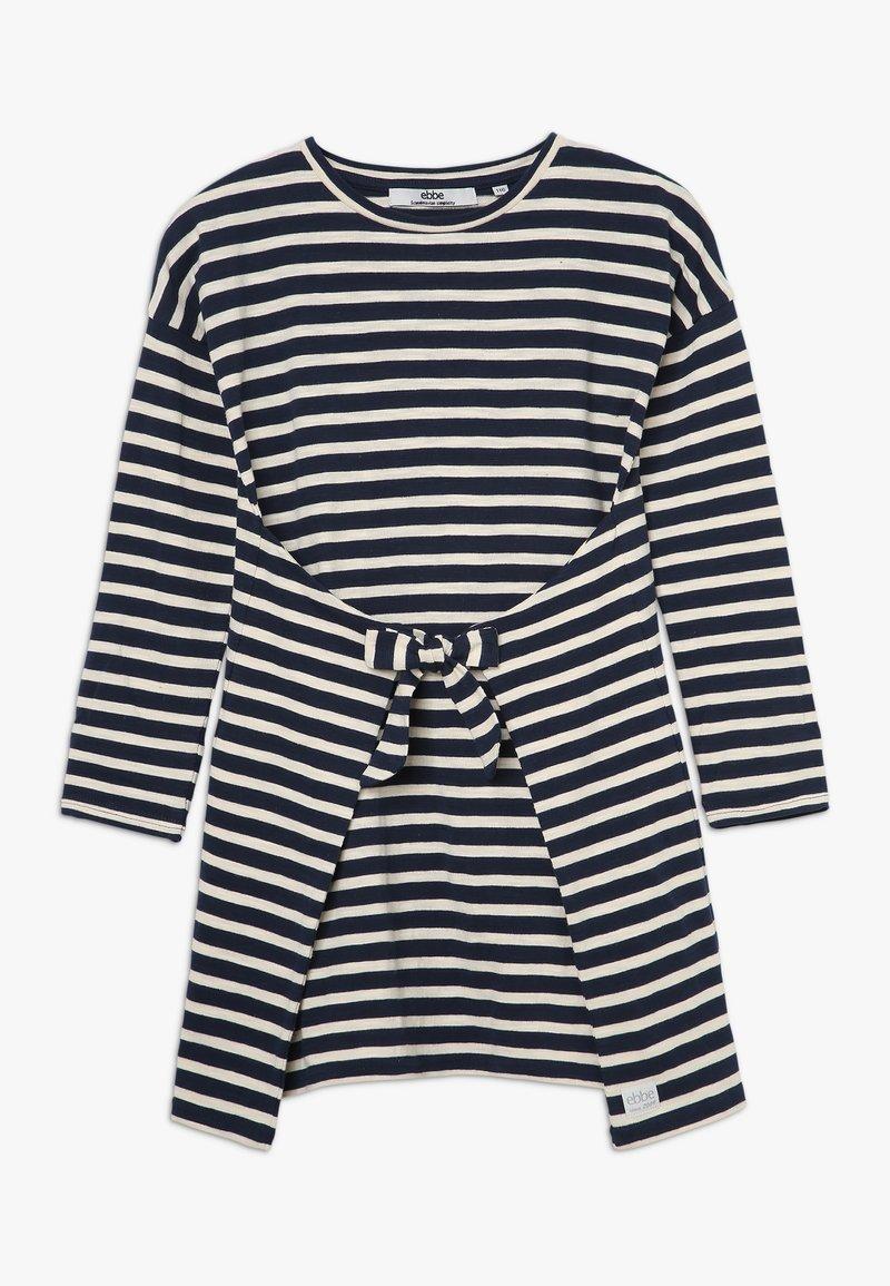 Ebbe - MELISSA DRESS - Jerseykjoler - navy/sand