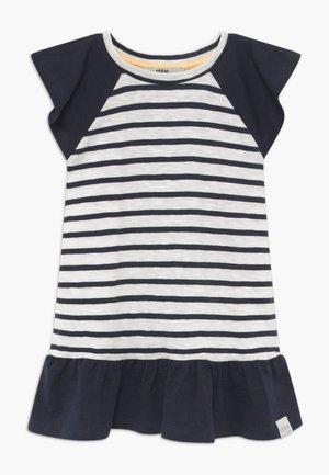 BELLE - Jersey dress - off-white/dark-navy