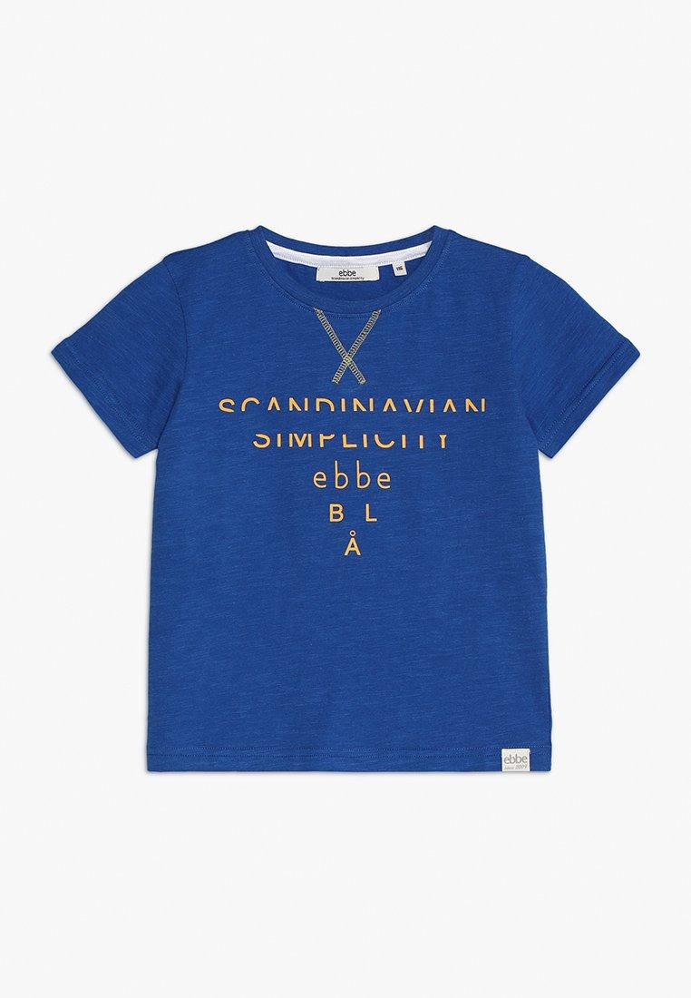 Ebbe - GOLOGO TEE - T-shirt con stampa - royal blue melange