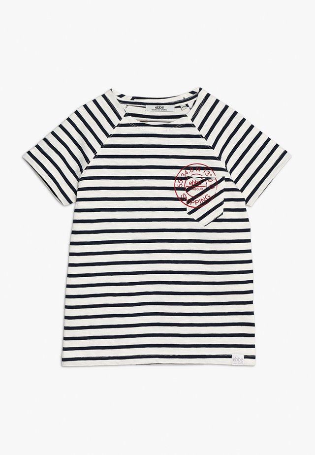 VALLMO TEE - T-shirt imprimé - offwhite/darknavy