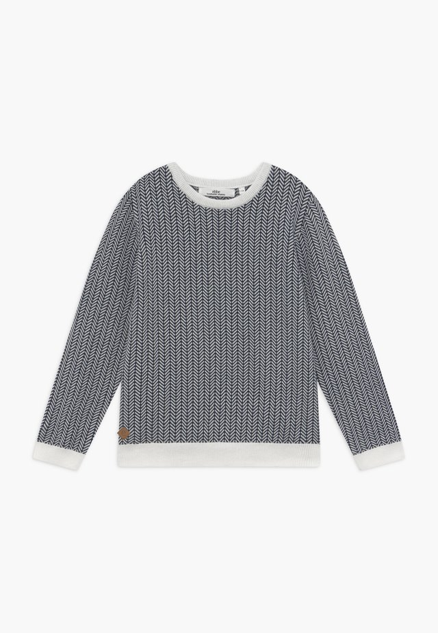 NOLAN FISHBONE  - Neule - blue/white