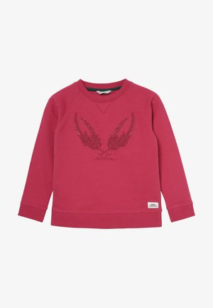 GARLAND SWEATER - Sweat à capuche - cherry pink