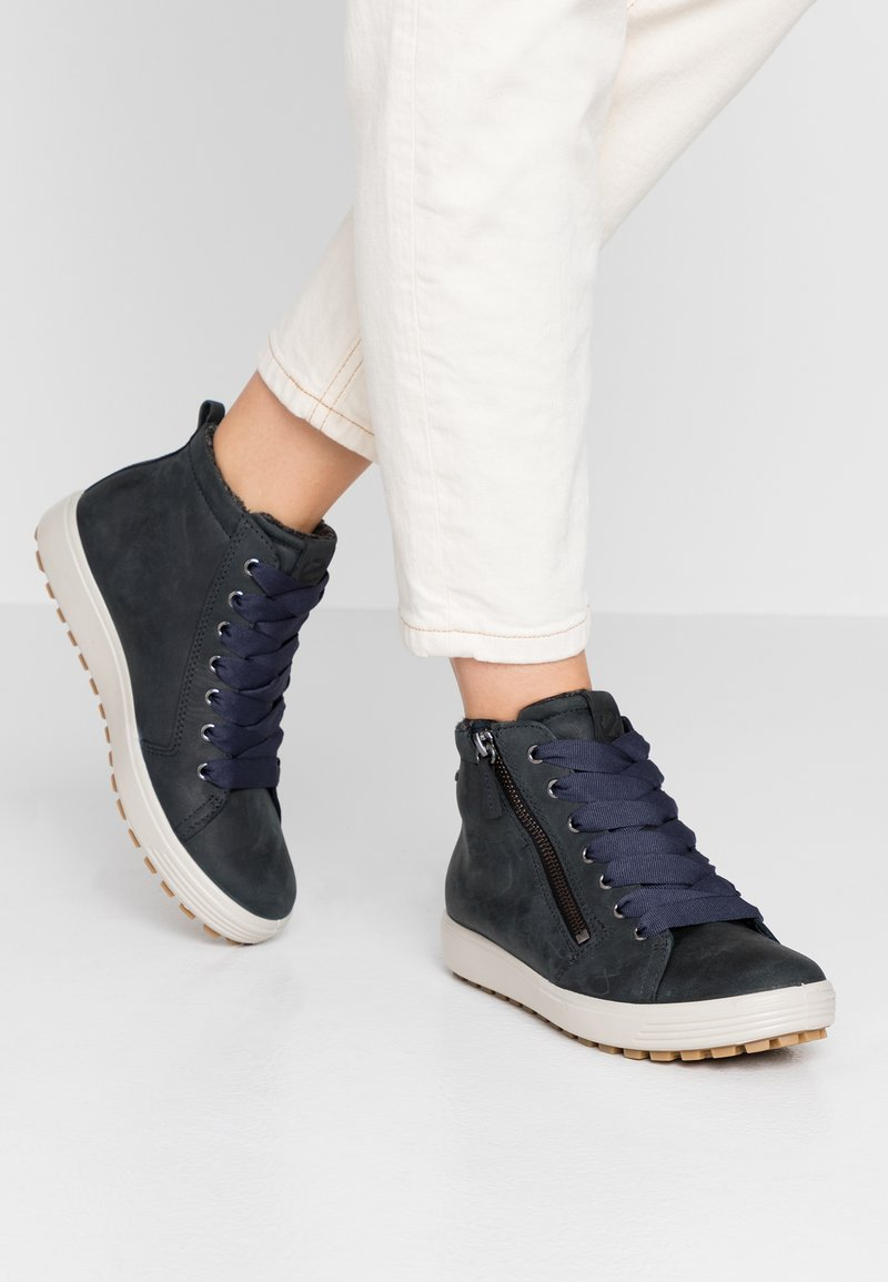 ecco - SOFT TRED - High-top trainers - marine