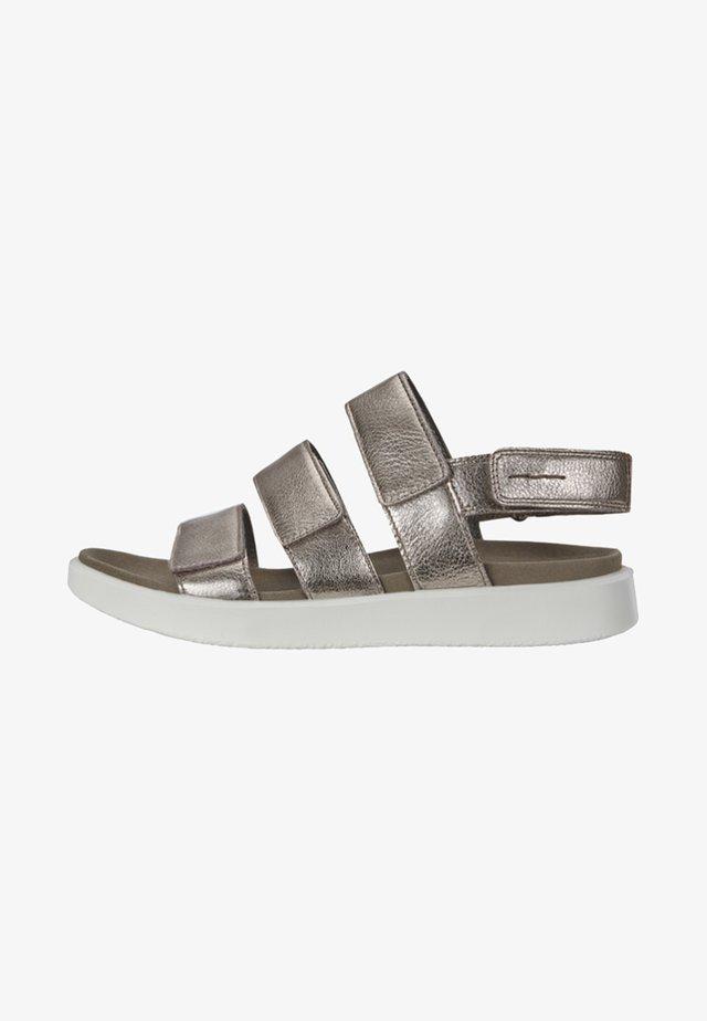Walking sandals - metallic grey