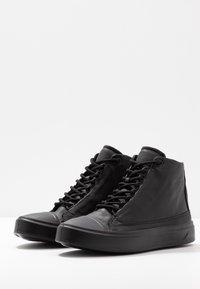 ecco - FLEXURE T-CAP - Höga sneakers - black - 4