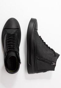 ecco - FLEXURE T-CAP - Höga sneakers - black - 3