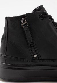 ecco - FLEXURE T-CAP - Höga sneakers - black - 2