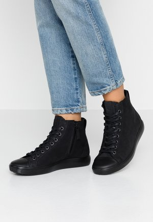 SOFT - Höga sneakers - black