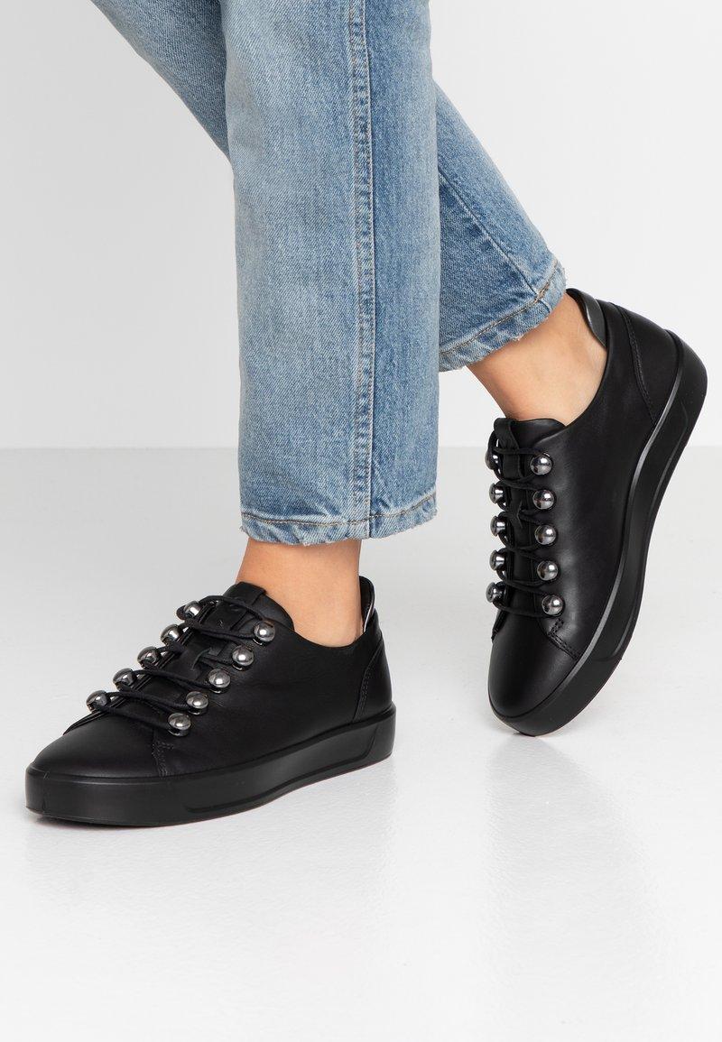 ecco - SOFT - Sneaker low - black/dark shadow metallic